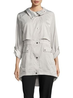 Packable High-Low Anorak Jacket by Karl Lagerfeld Paris