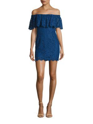 Adelyn Off-the-Shoulder Lace Dress by Rachel Zoe