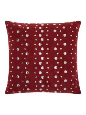 Embellished Faux Suede Accent Pillow