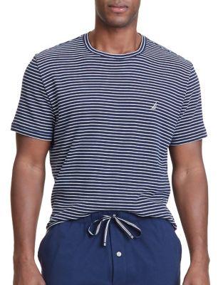 Striped Crewneck Sleep Tee by Nautica
