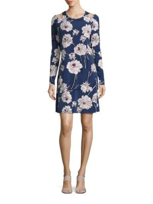 Floral Cold Shoulder Dress by Ivanka Trump