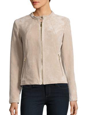 Long Sleeve Suede Jacket by Ivanka Trump