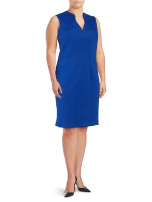 Split V Sheath Dress by Calvin Klein Plus