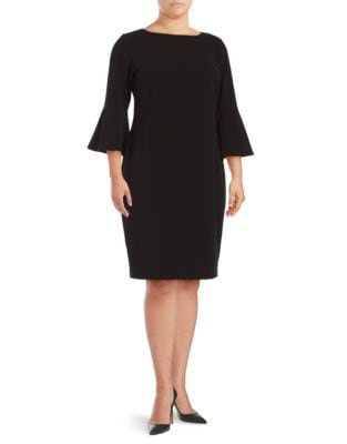 Bell Sleeve Sheath Dress by Calvin Klein Plus