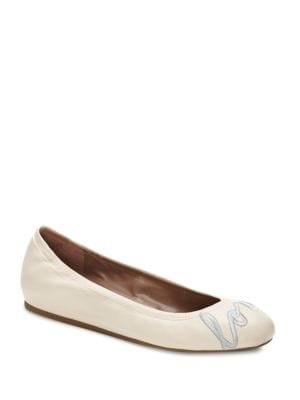 Langston Leather 'Love' Flats by Ed Ellen Degeneres