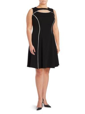 Contrast A-line Dress by Gabby Skye
