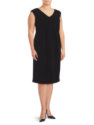 Plus Cap Sleeve Sheath Dress by Ivanka Trump