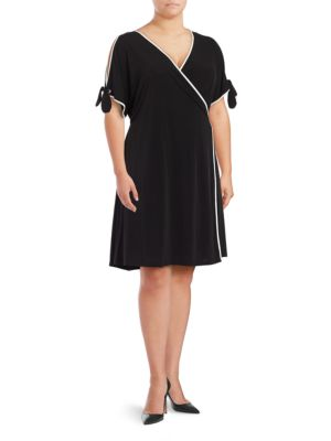 Colorblock Wrap Dress by Ivanka Trump