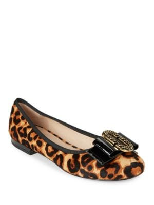 Interlock Calf Hair Flats by Marc Jacobs