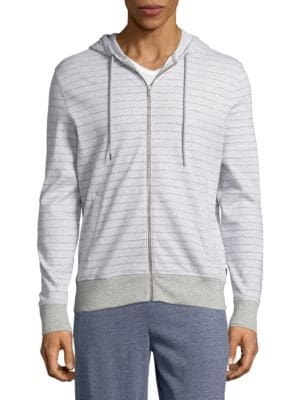 Striped Zip Up Hoodie by Michael Kors