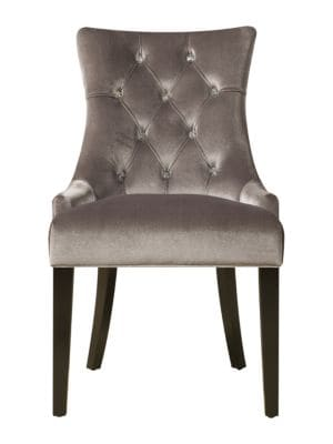 Hardwood  Fabric ButtonTuft Dining Chair
