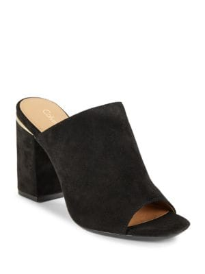 Photo of Cicelle Studded Suede Mule by Calvin Klein - shop Calvin Klein shoes sales