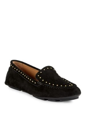 Lolly Studded Suede Loafers by Calvin Klein