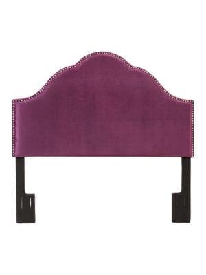 Velvet Upholstered Arched Headboard