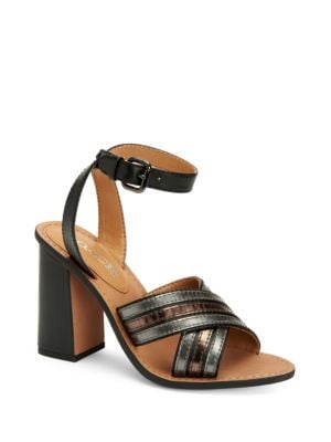 Lennon Block Heel Leather Sandals by COACH