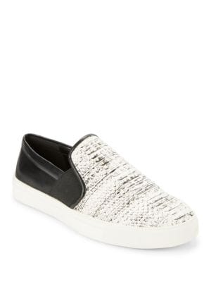 Elisha Leather Colorblocked Slip-On Sneakers by Karl Lagerfeld Paris