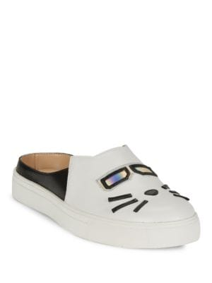 Emelia Leather Slip-On Sneakers by Karl Lagerfeld Paris