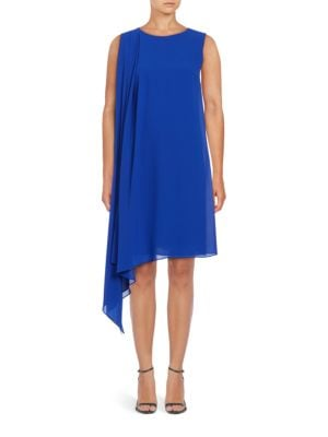 Asymmetrical Crepe Dress by Halston Heritage