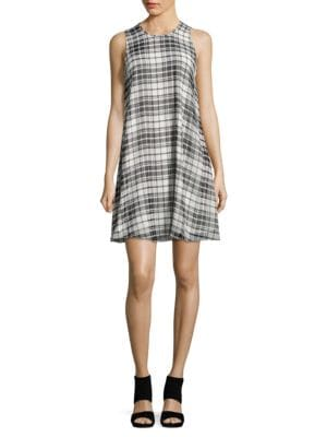 Plaid Trapeze Dress by Calvin Klein