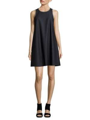 Chambray Trapeze Dress by Calvin Klein