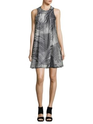 Printed Trapeze Dress by Calvin Klein