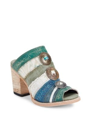 Budha Leather Mules by Freebird By Steven