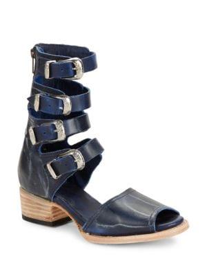Buy Pilar Leather Block Heel Sandals by Freebird By Steven online