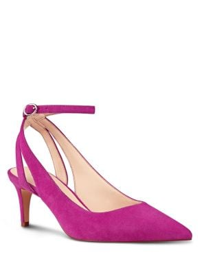Photo of Shawn Suede Sling-Back Pumps by Nine West - shop Nine West shoes sales