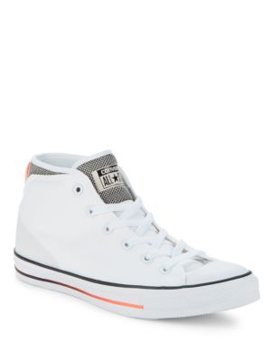 Round-Toe Lace-Up Sneakers...