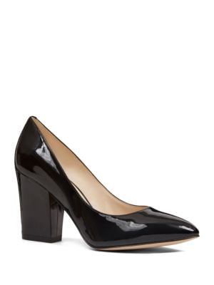 Sheila Point-Toe Leather Pumps by Nine West