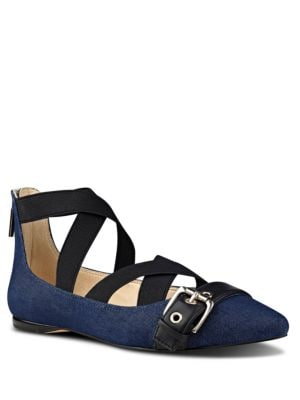 Photo of Smoak Stretch Top Flats by Nine West - shop Nine West shoes sales