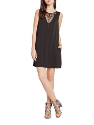 Lace-Inset A-line Dress by BCBGeneration