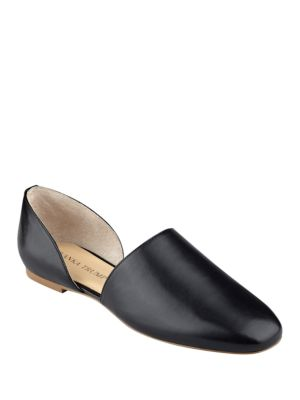 Euma D Orsay Leather Flats by Ivanka Trump