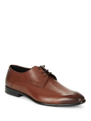 Burnished Leather Oxford Shoes by HUGO BOSS