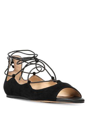 Barbara Tie-Up Suede Flats by Sam Edelman