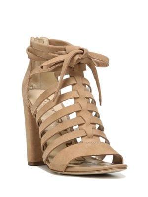 Yarina Suede Caged Sandals by Sam Edelman