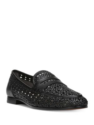 Leora Round-Toe Leather Loafers by Sam Edelman