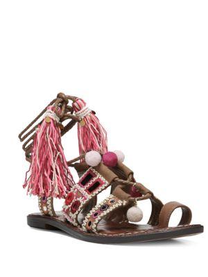 Gretchen Leather-Blend Sandals by Sam Edelman