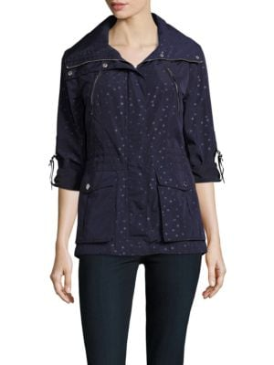 Polka Dot Print Utility Jacket by BCBGeneration
