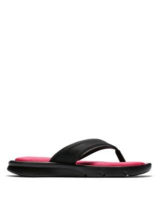 Women's Ultra Comfort Faux Leather Flip Flops 500033283284