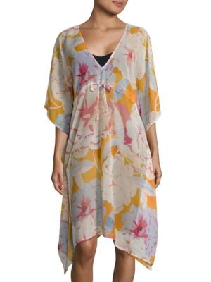 V-Neck Floral-Print Tunic by Echo