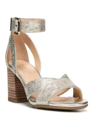 Marlina Textured Suede Sandals by Franco Sarto