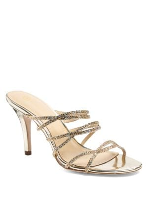 Adrianna Embellished Leather Sandals by Jl By Judith Leiber