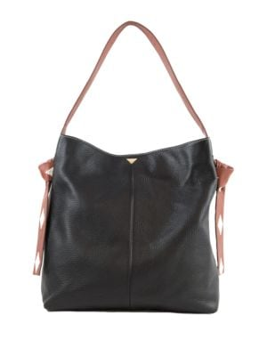 Audrey Leather Hobo Bag...