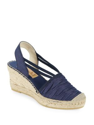 Sherri Chambray Platform Wedge Espadrille Sandals by Vidorreta