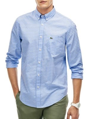 Gingham Check Shirt by Lacoste