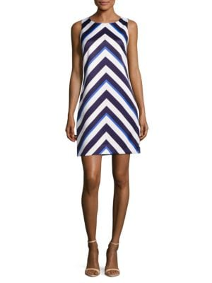 Chevron Sleeveless Dress by Vince Camuto