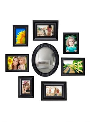 8Piece Wall Collage and Mirror