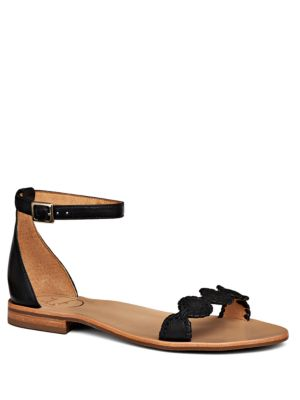 Daphne Ankle Buckle Leather Sandals by Jack Rogers