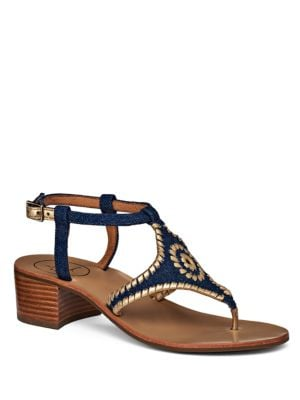 Elise Embroidered Denim Sandals by Jack Rogers